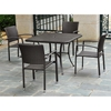 Barcelona Patio Dining Set - Square Table, Chocolate Wicker