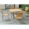 Barcelona Patio Dining Set - Square Table, Honey Wicker