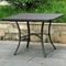 Barcelona Patio Dining Set - Square Table, Black Antique Wicker - INTC-4206-SQ-4210-4CH-BKA