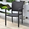Barcelona Patio Chair - Stackable, Black Antique Wicker (Set of 2) - INTC-4210-SQ-2CH-BKA