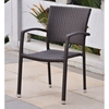 Barcelona Patio Chair - Stackable, Chocolate Wicker (Set of 2)