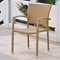 Barcelona Patio Dining Set - Square Table, Honey Wicker - INTC-4206-SQ-4210-4CH-HY