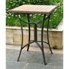 Barcelona Square Patio Bar Table - Wicker, Aluminum Frame