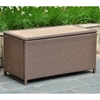 Barcelona Outdoor Trunk / Coffee Table - Antique Brown Wicker