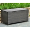 Barcelona Outdoor Trunk / Coffee Table - Black Antique Wicker