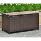 Barcelona Outdoor Trunk / Coffee Table - Chocolate Wicker