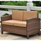 Barcelona Patio Living Room Set - Antique Brown Wicker, Coffee - INTC-4250-S4-ABN-CF