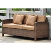 Barcelona Outdoor Sofa - Antique Brown Wicker, Coffee Cushions