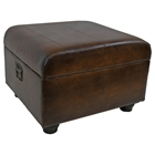 Milburn Storage Ottoman in Brown Upholstery