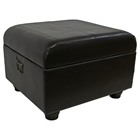 Milburn Storage Ottoman in Dark Chocolate Upholstery