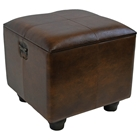 Rearden Brown Square Ottoman with Lid