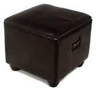 Rearden Dark Chocolate Square Ottoman with Lid