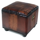 Rearden Two-Toned Square Ottoman with Lid
