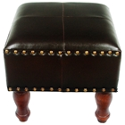 Barclay Square Stool in Dark Chocolate Upholstery