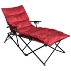 Redford Folding Chaise Lounge - Carry Bag, Cardinal Red Microsuede