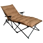 Redford Folding Chaise Lounge - Carry Bag, Saddle Brown