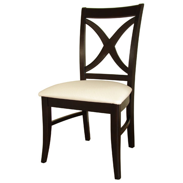 Salerno Dining Chair with Upholstered Seat