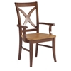 X-Back Dining Chair with Arms