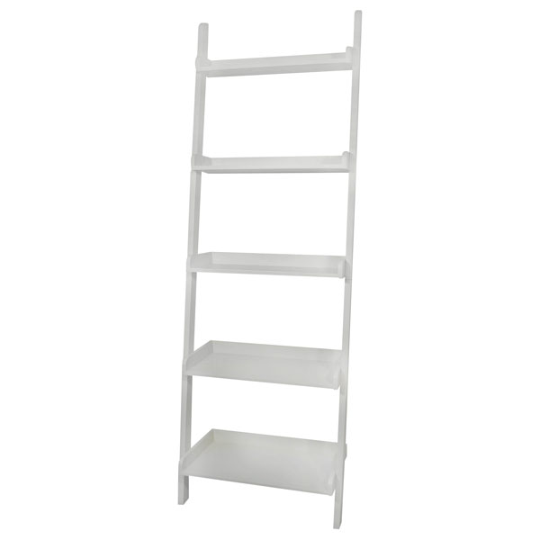 5 Tier Solid Wood Leaning Shelf - IC-SHXX-2660