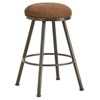 "Alexander 30"" Backless Swivel Bar Stool - Round Seat, Rust, Chenille"