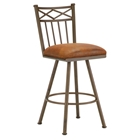 "Alexander 26"" Armless Swivel Counter Stool - X Motif, Microfiber"