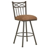 "Alexander 26"" Armless Swivel Counter Stool - X Motif, Rust, Chenille"