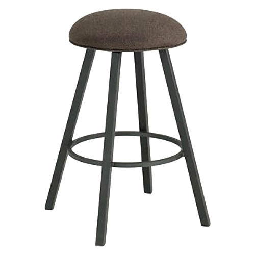 "Cole 26"" Backless Swivel Counter Stool - Square Leg, Chenille"