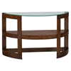 Avon Demilune Sofa Table - Glass Top, Shelf, Birch