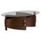 Waterville Oval Cocktail Table - Walnut - JOFR-956-1B1GKT