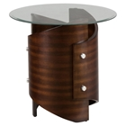 Waterville Round End Table - Walnut