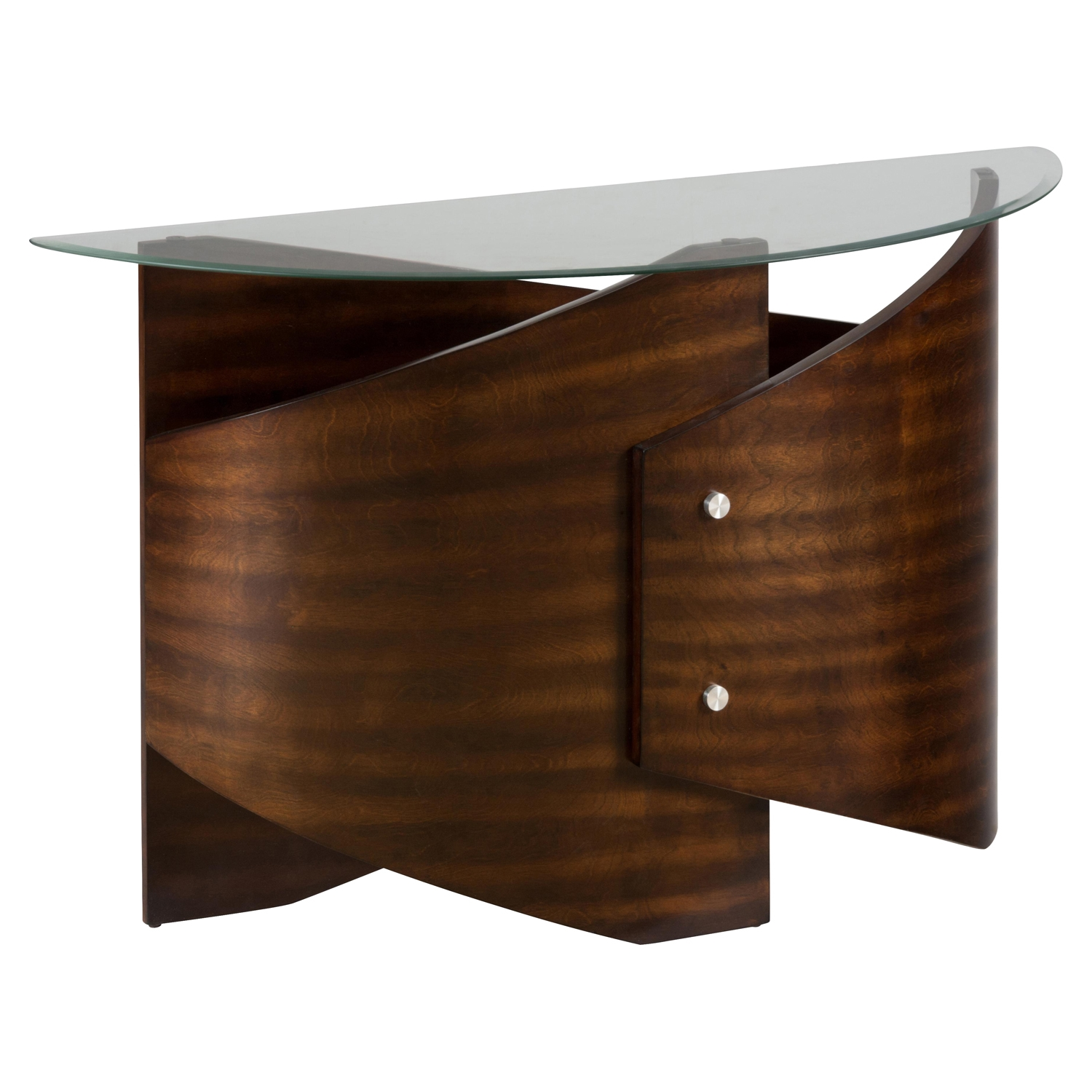 Waterville Demilune Sofa Table - Walnut