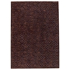 Amiya Hand Tufted Wool Rug in Chocolate Brown