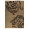 Babette Hand Knotted Wool Rug in Beige and Brown