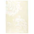 Babette Hand Knotted Wool Rug in Light Cream and White