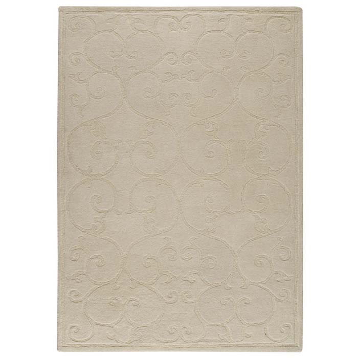 Capri Off-White Hand Tufted Rug with Twisted New Zealand Wool