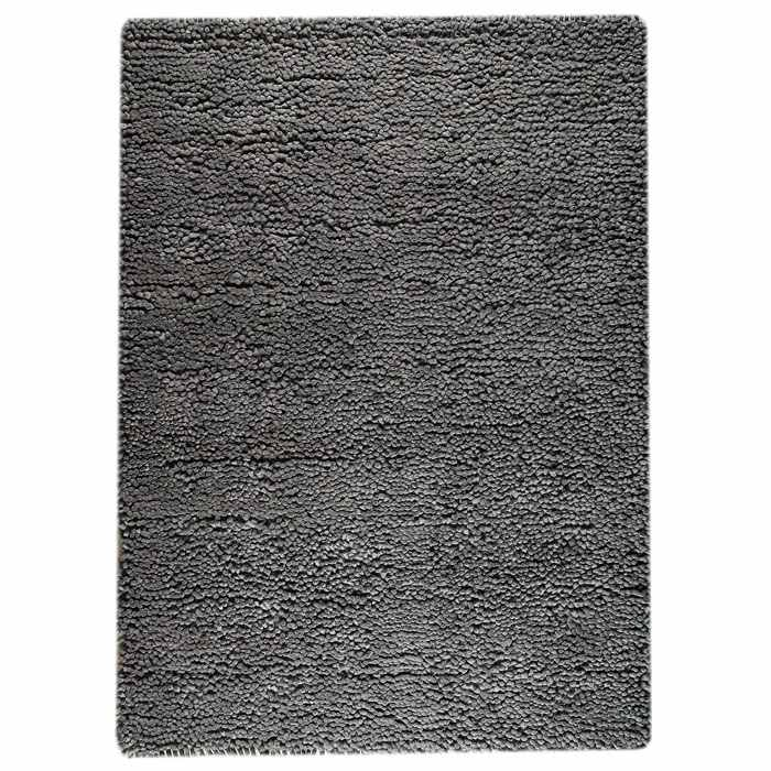 Ceres Hand Woven Wool Rug in Dark Grey