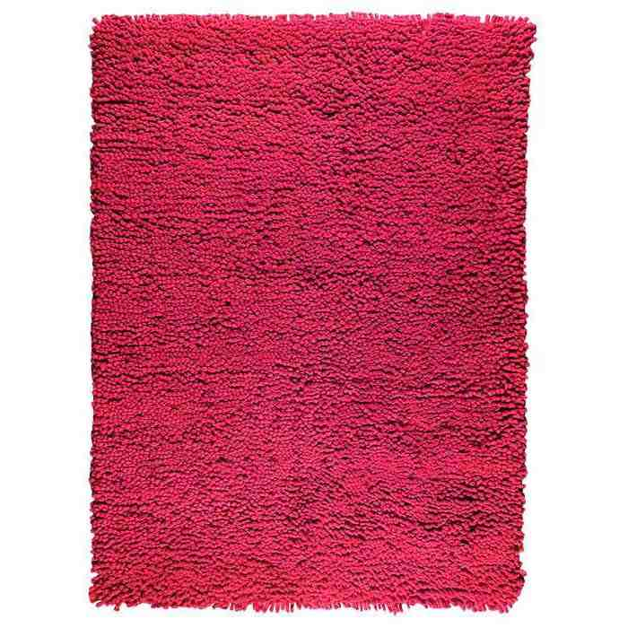 Ceres Hand Woven Wool Rug in Dark Pink
