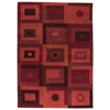 Carley Hand Tufted Wool Rug in Red