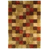 Daley Hand Woven Shaggy Rug in Beige and Brown