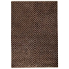 Diamond Hand Tufted Wool and Linen Rug in Brown