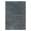 Evonne Hand Woven Polyester Shaggy Rug in Aqua