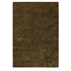 Evonne Hand Woven Polyester Shaggy Rug in Green