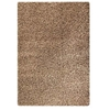 Evonne Hand Woven Polyester Shaggy Rug in Silver