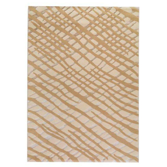 Wool Rug in Off-White and Tan