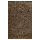 Iris Hand Woven Shaggy Rug in Beige and Brown