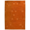 Ingrid Hand Tufted Wool Rug in Orange