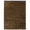 Isolde Hand Woven Wool and Hemp Rug in Dark Brown