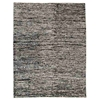Isolde Hand Woven Wool and Hemp Rug in Black and White