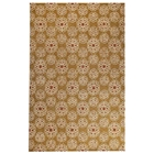 Jin Floral Hand Tufted Wool Rug in Gold