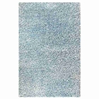 June Hand Woven Polyester Shaggy Rug in Aqua